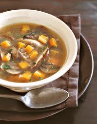 Mushrrom soup w veg
